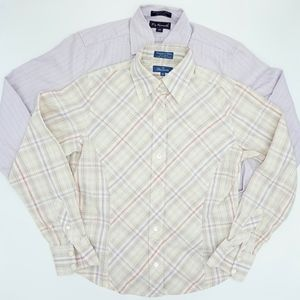 Faconnable 2 Set Button Down Shirts NWOT